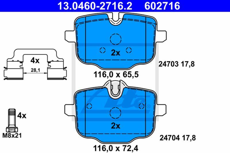UAT Ceramic Bremsbelagsatz 13.0470-2716.2 BMW 5 Touring f11