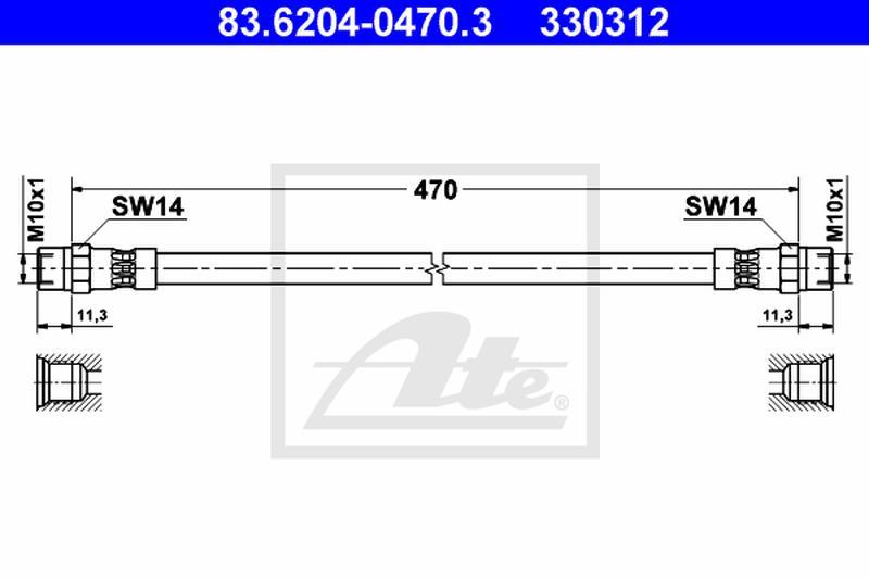 ATE Bremsschlauch 24.5201-0474.3
