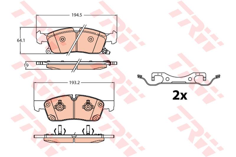 Scheibenbremse TRW GDB4603 Bremsbelagsatz